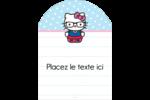 Hello Kitty avec des lunettes Étiquettes rectangulaires - gabarit prédéfini. <br/>Utilisez notre logiciel Avery Design & Print Online pour personnaliser facilement la conception.