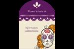 Halloween, jour des Morts Étiquettes rectangulaires - gabarit prédéfini. <br/>Utilisez notre logiciel Avery Design & Print Online pour personnaliser facilement la conception.