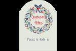 Couronne Étiquettes rectangulaires - gabarit prédéfini. <br/>Utilisez notre logiciel Avery Design & Print Online pour personnaliser facilement la conception.