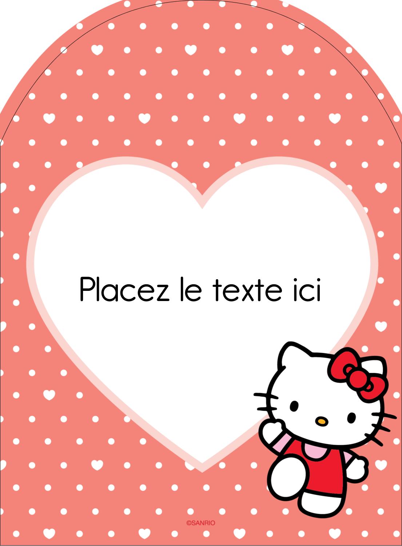 "4¾"" x 3½"" Étiquettes rectangulaires - Nous aimons Hello Kitty"