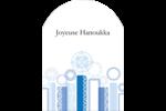 Chandelier bleu de Hanoukka  Étiquettes rectangulaires - gabarit prédéfini. <br/>Utilisez notre logiciel Avery Design & Print Online pour personnaliser facilement la conception.