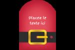 Père Noël minimaliste Étiquettes arrondies - gabarit prédéfini. <br/>Utilisez notre logiciel Avery Design & Print Online pour personnaliser facilement la conception.