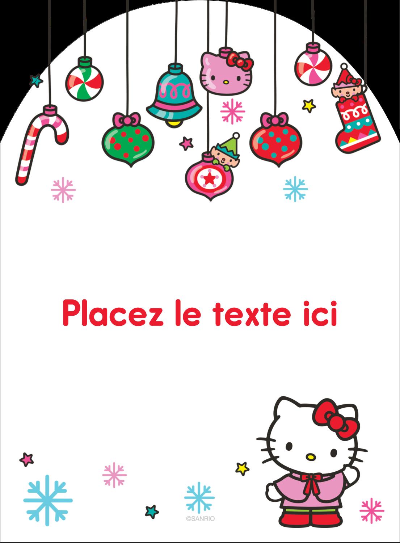 """4¾"""" x 3½"""" Étiquettes rectangulaires - Hello Kitty Fêtes"""