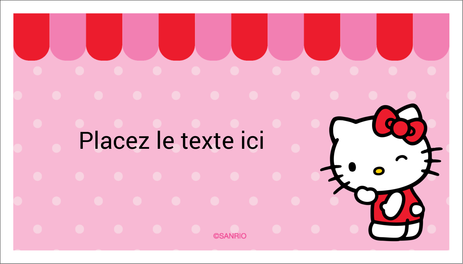 "3"" x 5"" Cartes Pour Le Bureau - Clin d'œil Hello Kitty"