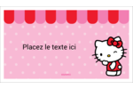 Clin d'œil Hello Kitty Cartes Pour Le Bureau - gabarit prédéfini. <br/>Utilisez notre logiciel Avery Design & Print Online pour personnaliser facilement la conception.