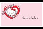 Hello Kitty Saint-Valentin Cartes Pour Le Bureau - gabarit prédéfini. <br/>Utilisez notre logiciel Avery Design & Print Online pour personnaliser facilement la conception.