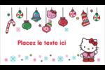 Hello Kitty Fêtes Cartes Pour Le Bureau - gabarit prédéfini. <br/>Utilisez notre logiciel Avery Design & Print Online pour personnaliser facilement la conception.