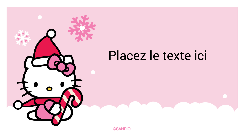 """3"""" x 5"""" Cartes Pour Le Bureau - Canne en bonbon de Noël Hello Kitty"""