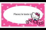 Hello Kitty rigole Cartes Pour Le Bureau - gabarit prédéfini. <br/>Utilisez notre logiciel Avery Design & Print Online pour personnaliser facilement la conception.