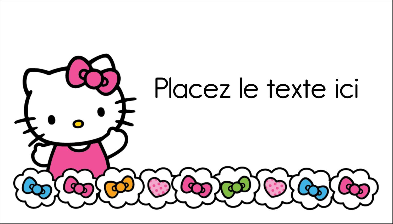 """3"""" x 5"""" Cartes Pour Le Bureau - Hello Kitty Cœurs et Nœuds"""