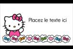 Hello Kitty Cœurs et Nœuds Cartes Pour Le Bureau - gabarit prédéfini. <br/>Utilisez notre logiciel Avery Design & Print Online pour personnaliser facilement la conception.