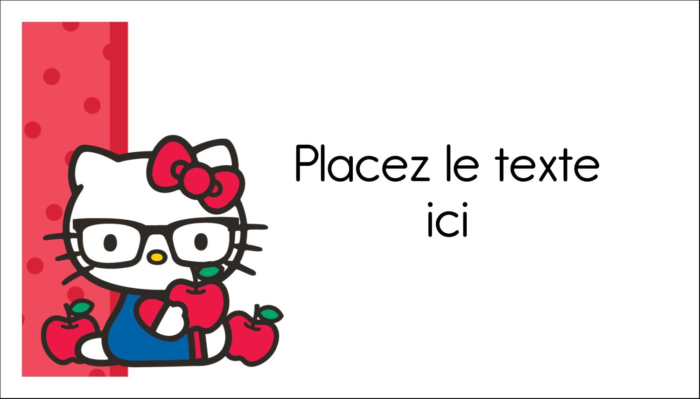 """3"""" x 5"""" Cartes Pour Le Bureau - Votre Ami Hello Kitty"""