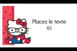 Votre Ami Hello Kitty Cartes Pour Le Bureau - gabarit prédéfini. <br/>Utilisez notre logiciel Avery Design & Print Online pour personnaliser facilement la conception.