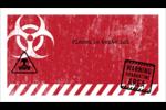Apocalypse zombie d'Halloween Cartes Pour Le Bureau - gabarit prédéfini. <br/>Utilisez notre logiciel Avery Design & Print Online pour personnaliser facilement la conception.