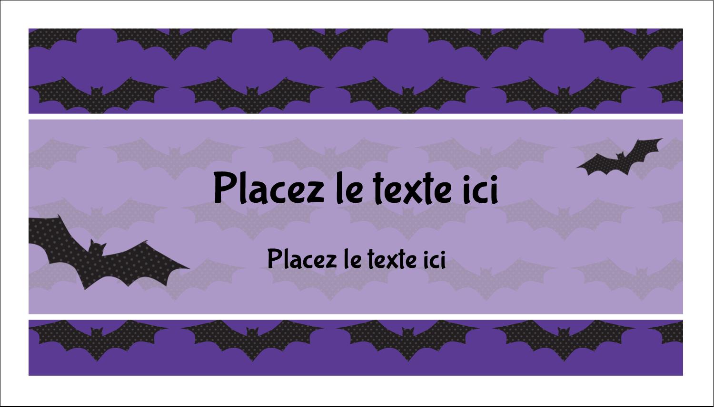 """3"""" x 5"""" Cartes Pour Le Bureau - Chauves-souris d'Halloween"""