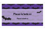 Chauves-souris d'Halloween Cartes Pour Le Bureau - gabarit prédéfini. <br/>Utilisez notre logiciel Avery Design & Print Online pour personnaliser facilement la conception.