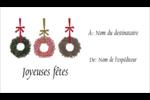 Couronnes de Noël Cartes Pour Le Bureau - gabarit prédéfini. <br/>Utilisez notre logiciel Avery Design & Print Online pour personnaliser facilement la conception.