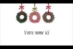 Couronnes de Noël Carte d'affaire - gabarit prédéfini. <br/>Utilisez notre logiciel Avery Design & Print Online pour personnaliser facilement la conception.