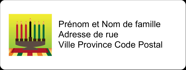"""1½"""" x 4"""" Étiquettes D'Adresse - Lueur verte de Kwanzaa"""