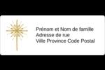 Étoile dorée de Bethléem Étiquettes D'Adresse - gabarit prédéfini. <br/>Utilisez notre logiciel Avery Design & Print Online pour personnaliser facilement la conception.