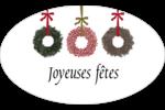 Couronnes de Noël Étiquettes carrées - gabarit prédéfini. <br/>Utilisez notre logiciel Avery Design & Print Online pour personnaliser facilement la conception.