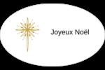 Étoile dorée de Bethléem Étiquettes carrées - gabarit prédéfini. <br/>Utilisez notre logiciel Avery Design & Print Online pour personnaliser facilement la conception.