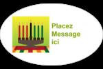 Lueur verte de Kwanzaa Étiquettes carrées - gabarit prédéfini. <br/>Utilisez notre logiciel Avery Design & Print Online pour personnaliser facilement la conception.