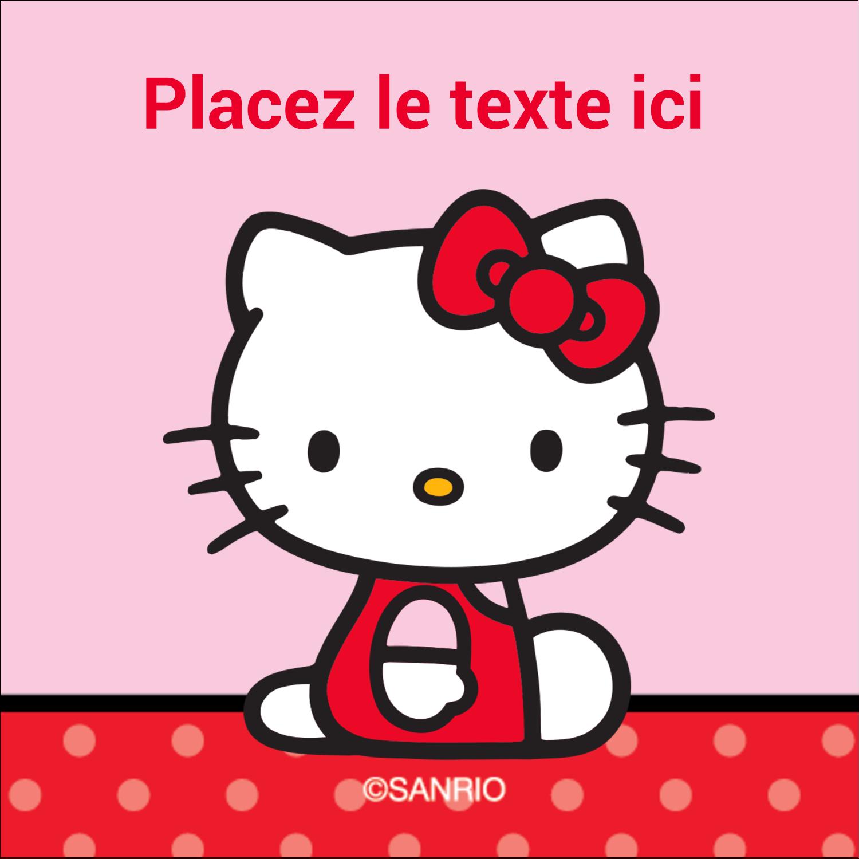 """2"""" x 2"""" Étiquettes carrées - Hello Kitty super mignonne"""