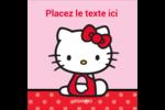 Hello Kitty super mignonne Étiquettes carrées - gabarit prédéfini. <br/>Utilisez notre logiciel Avery Design & Print Online pour personnaliser facilement la conception.