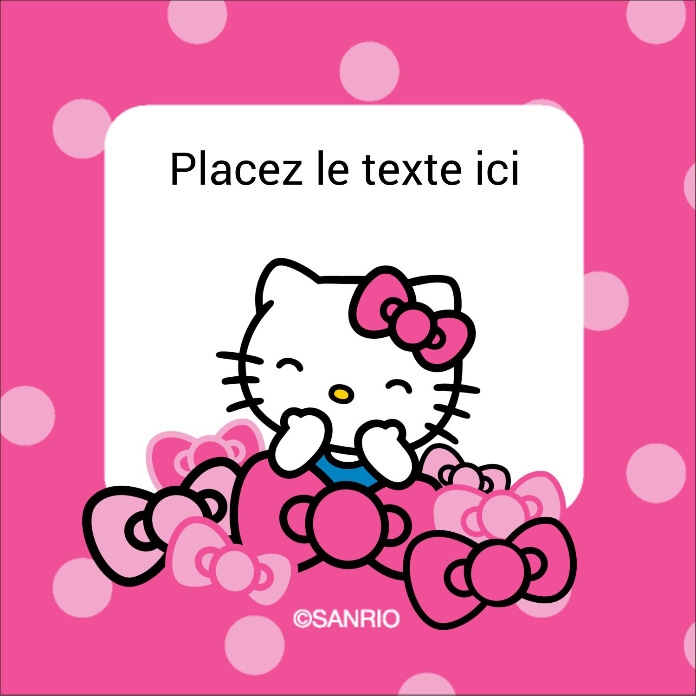 """2"""" x 2"""" Étiquettes carrées - Hello Kitty rigole"""