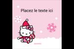 Canne en bonbon de Noël Hello Kitty Étiquettes carrées - gabarit prédéfini. <br/>Utilisez notre logiciel Avery Design & Print Online pour personnaliser facilement la conception.