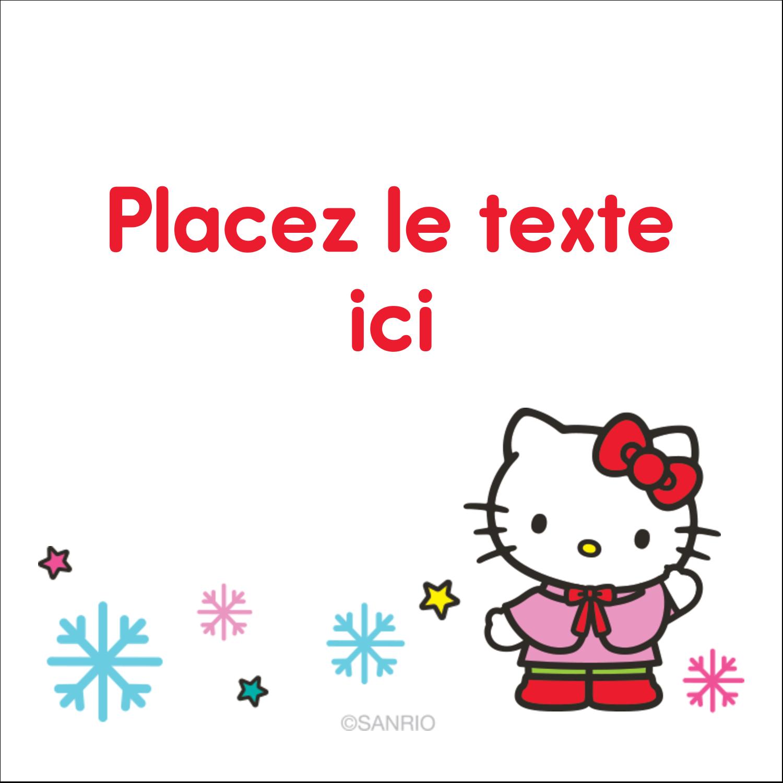 """2"""" x 2"""" Étiquettes carrées - Hello Kitty Fêtes"""