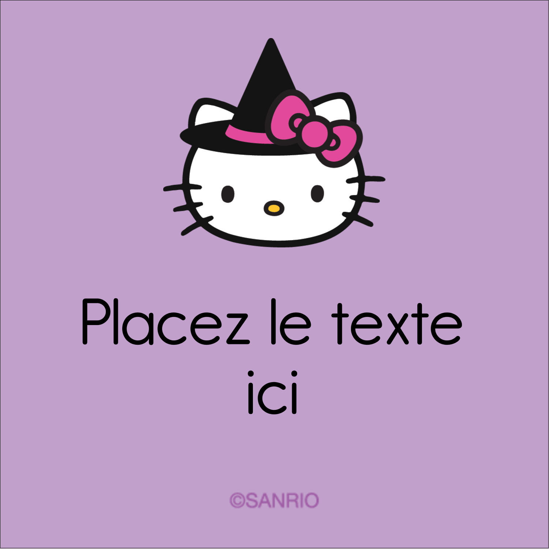 "1½"" x 1½"" Étiquettes carrées - Halloween Hello Kitty"