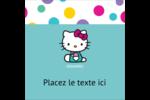 Fête Hello Kitty Étiquettes carrées - gabarit prédéfini. <br/>Utilisez notre logiciel Avery Design & Print Online pour personnaliser facilement la conception.