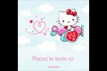 Hello Kitty Saint-Valentin - Mon cœur monte pour vous Étiquettes carrées - gabarit prédéfini. <br/>Utilisez notre logiciel Avery Design & Print Online pour personnaliser facilement la conception.