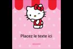 Clin d'œil Hello Kitty Étiquettes carrées - gabarit prédéfini. <br/>Utilisez notre logiciel Avery Design & Print Online pour personnaliser facilement la conception.