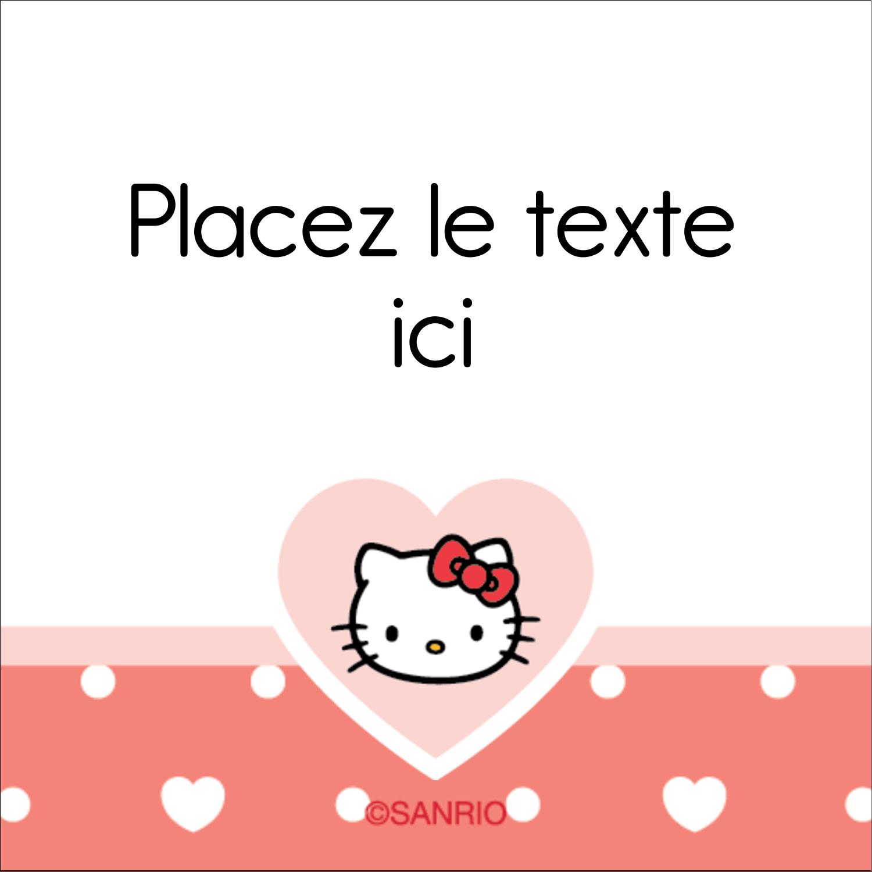 """2"""" x 2"""" Étiquettes carrées - Nous aimons Hello Kitty"""