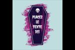 Cercueil d'Halloween Étiquettes rondes - gabarit prédéfini. <br/>Utilisez notre logiciel Avery Design & Print Online pour personnaliser facilement la conception.