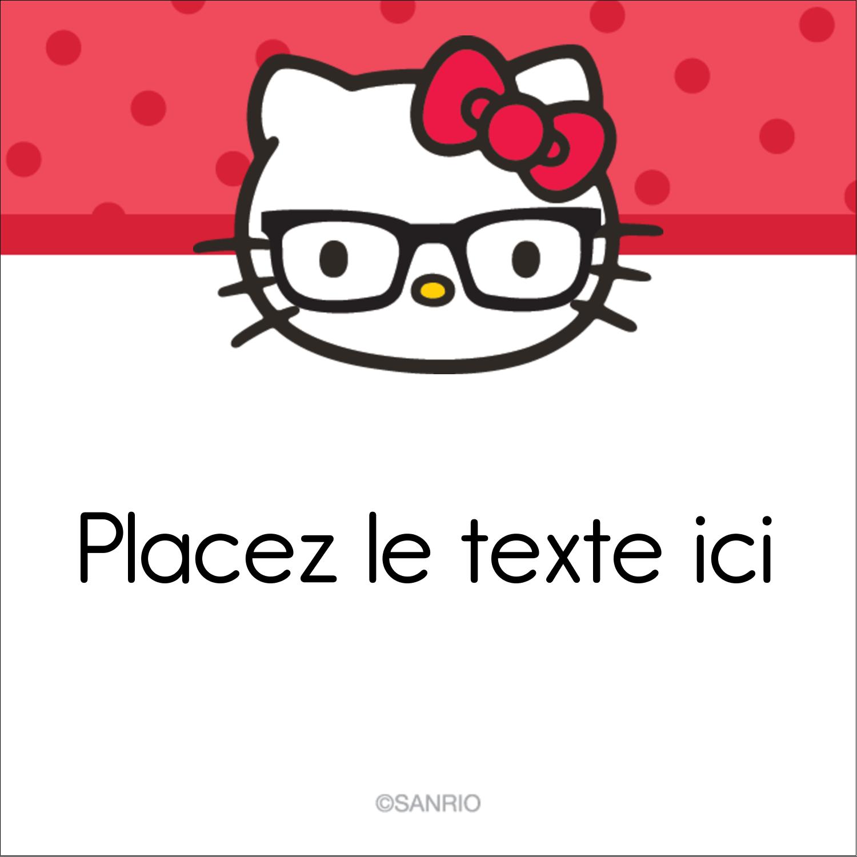 """2"""" Diameter Étiquettes rondes - Votre Ami Hello Kitty"""