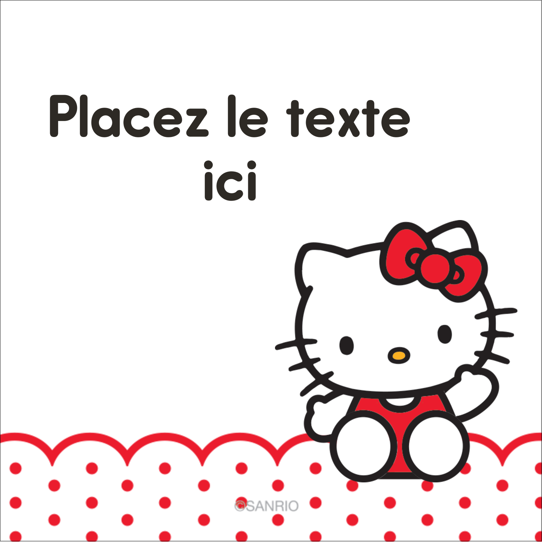 "2"" Diameter Étiquettes rondes - Salut Hello Kitty"