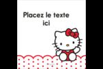 Salut Hello Kitty Étiquettes rondes - gabarit prédéfini. <br/>Utilisez notre logiciel Avery Design & Print Online pour personnaliser facilement la conception.