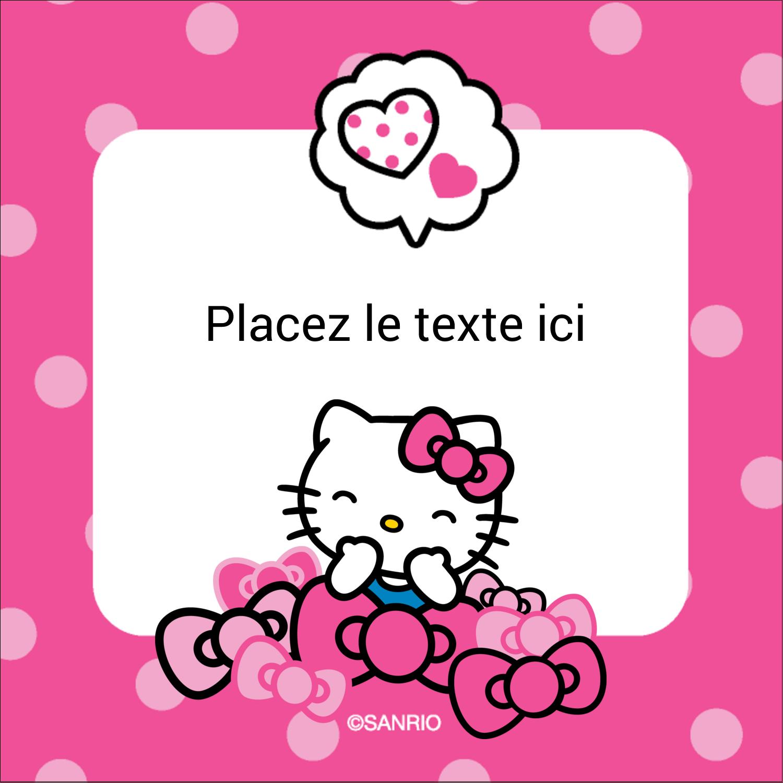 "2"" Diameter Étiquettes rondes - Hello Kitty rigole"
