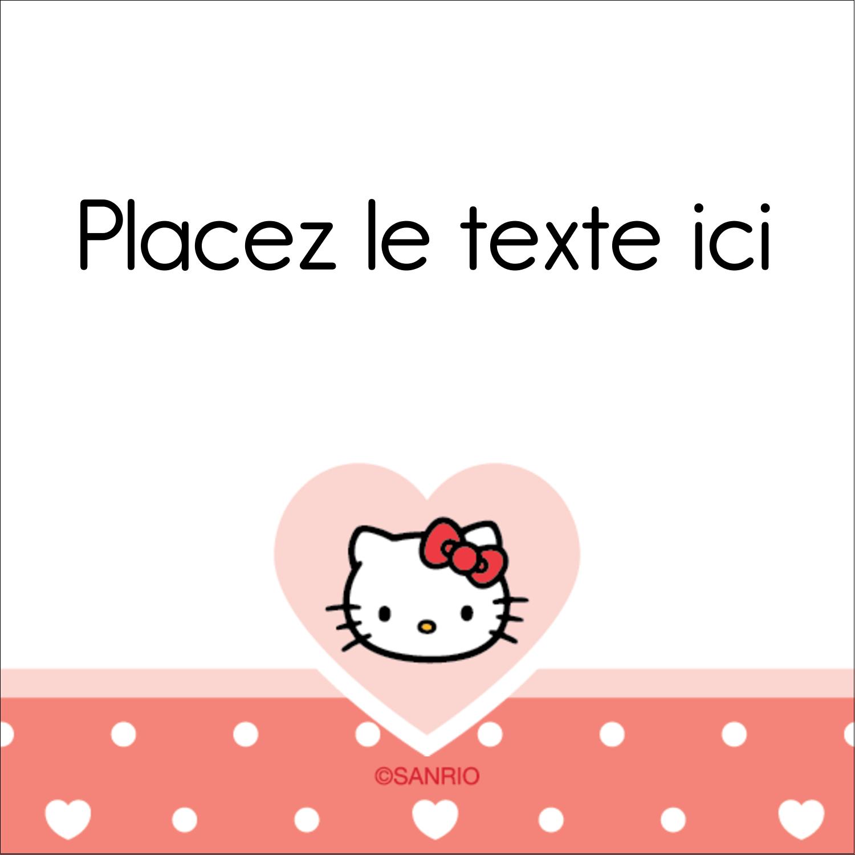 "2"" Diameter Étiquettes rondes - Nous aimons Hello Kitty"