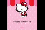 Clin d'œil Hello Kitty Étiquettes rondes - gabarit prédéfini. <br/>Utilisez notre logiciel Avery Design & Print Online pour personnaliser facilement la conception.
