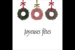 Couronnes de Noël Étiquettes rondes - gabarit prédéfini. <br/>Utilisez notre logiciel Avery Design & Print Online pour personnaliser facilement la conception.