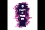 Cercueil d'Halloween Étiquettes enveloppantes - gabarit prédéfini. <br/>Utilisez notre logiciel Avery Design & Print Online pour personnaliser facilement la conception.