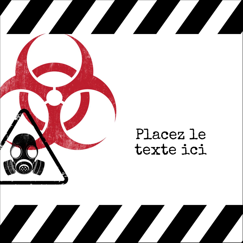 """9¾"""" x 1¼"""" Étiquettes enveloppantes - Apocalypse zombie d'Halloween"""