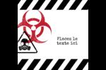 Apocalypse zombie d'Halloween Étiquettes enveloppantes - gabarit prédéfini. <br/>Utilisez notre logiciel Avery Design & Print Online pour personnaliser facilement la conception.