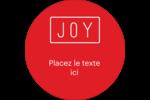 Calque de texte minimaliste Étiquettes rondes - gabarit prédéfini. <br/>Utilisez notre logiciel Avery Design & Print Online pour personnaliser facilement la conception.