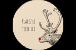 Nez rouge  Étiquettes rondes - gabarit prédéfini. <br/>Utilisez notre logiciel Avery Design & Print Online pour personnaliser facilement la conception.